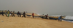 Nigeria, Lagos beach (opposite Badagry Creek)